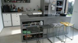 Mesado cocina microcemento