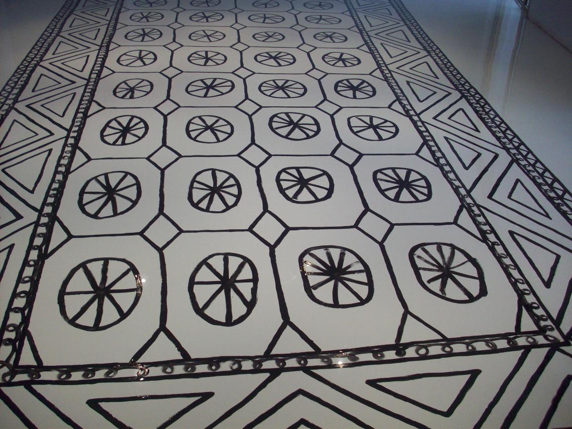 Suelo epoxi decorado con dibujos