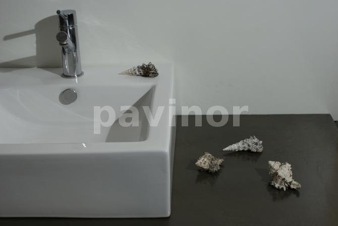 Encimera microcemento revestil bronce