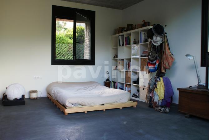 Dormitorio pavimento continuo pavinox