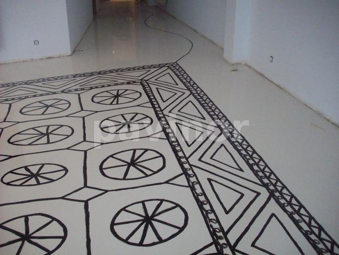 alfombra, hilo y ovillo