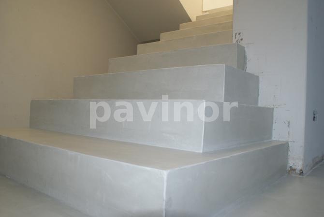 escaleras microcemento gris claro 6 escaleras